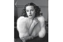 Hedy Lamarr - Glamorous portrait of movie actress Hedy Lamarr wearing white fox fur short jacket.1938 - �Diltz/RDA/Everett Collection (00523921)