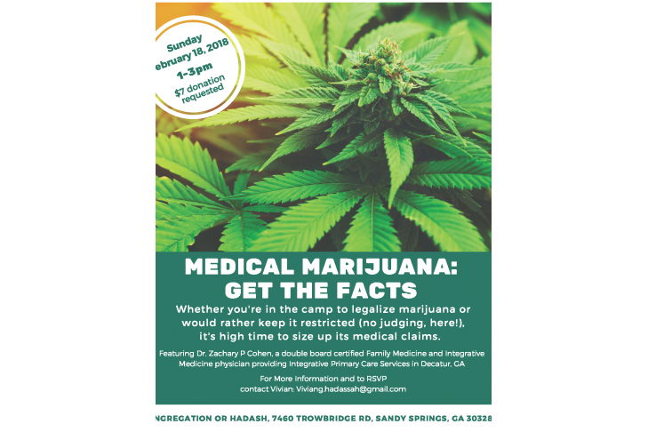 RSVP TODAY for the February 18 Medical Marijuana program.