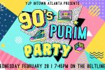 90's Purim Party Flyer