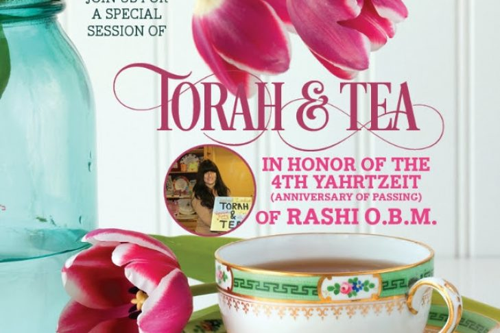 Rashi's yahrtzeit torah and tea