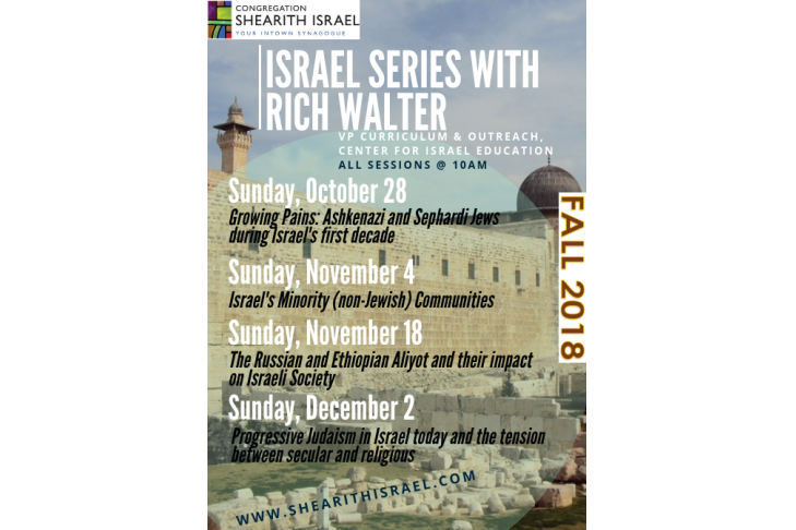 israel series with rich walter (updated)