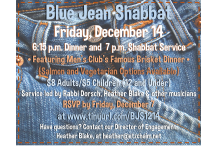 Blue Jean Shabbat Dec. 2018 Updated