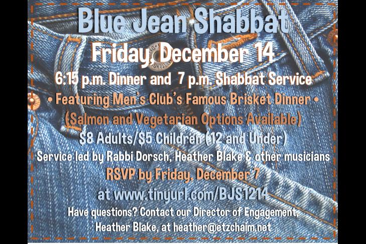 Blue Jean Shabbat Dec. 2018 Updated