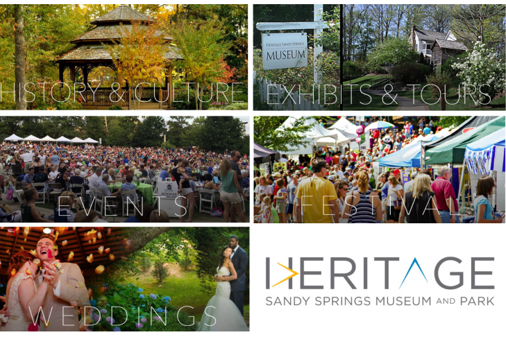Heritage Sandy Springs Museum and Park Collage