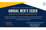 Smaller Brotherhood Men's Seder 2019 - after early bird