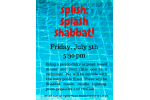 splish, splash shabbat!