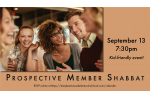 Prospective Member Shabbat Slide Date for Website Slider Sept. 13