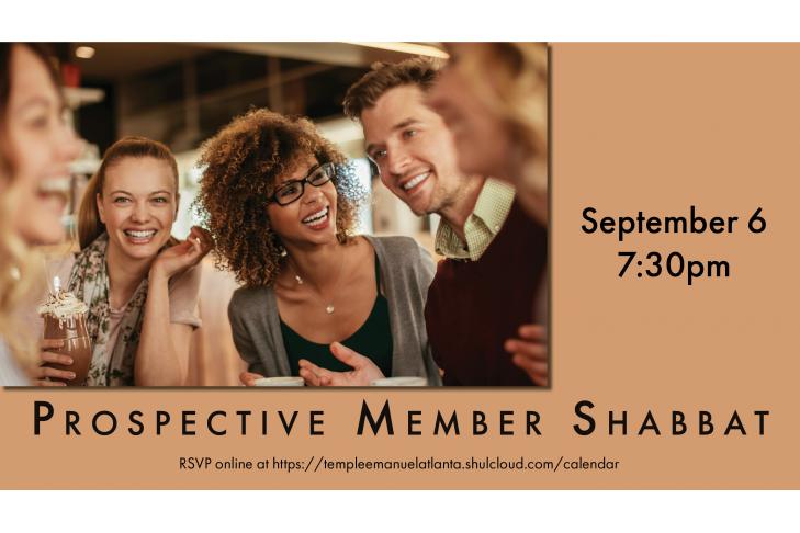 Prospective Member Shabbat Slide Date for Website Slider Sept. 6
