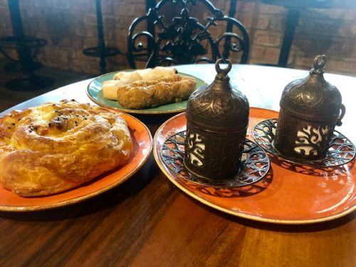 Pastreis and coffee