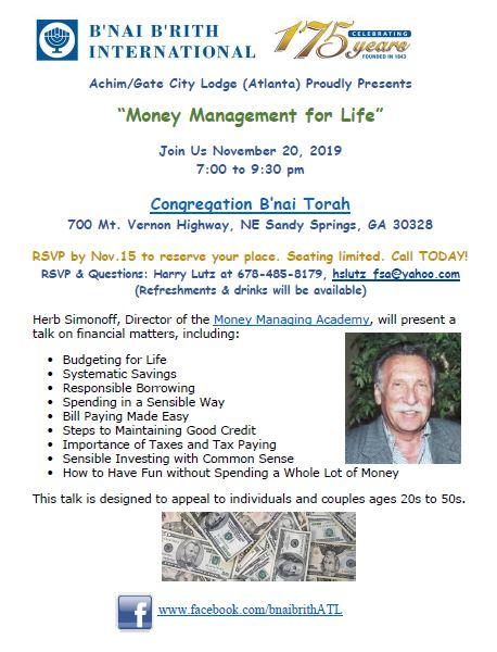 Money Maagement flyer