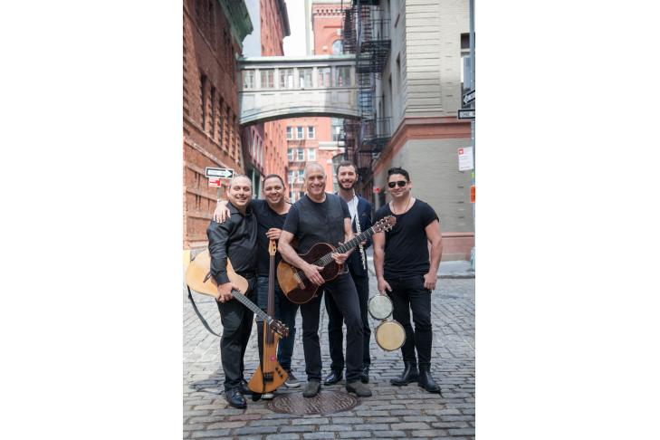April 12, 2019, New York, NY USA: Musician David Broza and his band in Tribeca.