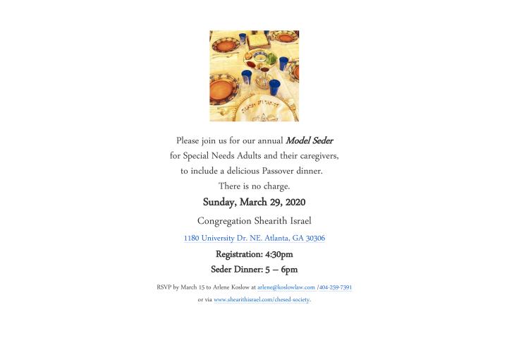 Model Seder 2020