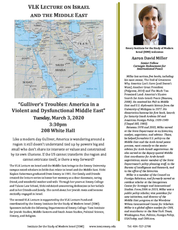 2020 VLK Lecture Series- Aaron Miller