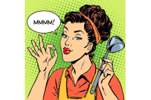 44238329-stock-vector-the-woman-tasty-dish-cooking-retro-style-pop-art-cooking-restaurant-kitchen