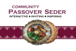 Passover Seder Flyer 2020 GRAPHIC