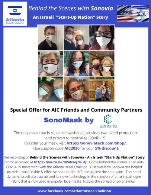 AICSonovia masks flyer