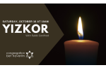 yizkor service graphic