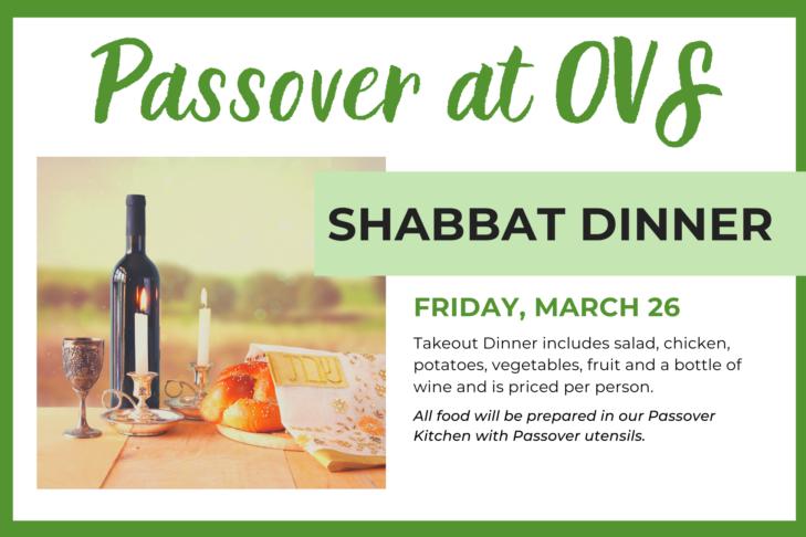Passover Shabbat Dinner Banner