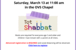 Tot Shabbat Postcard March 13 2021