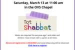 Tot Shabbat Postcard March 13 2021