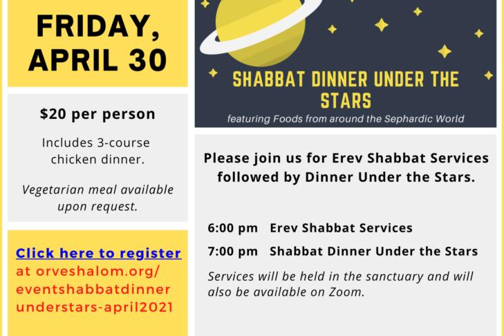 Dinner Under Stars April 30 2021