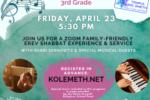 Family Erev Shabbat Experience for Pre-K –3rd Grade Families