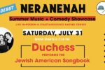 CAL_ Duchess Performs the Jewish American Songbook July 30
