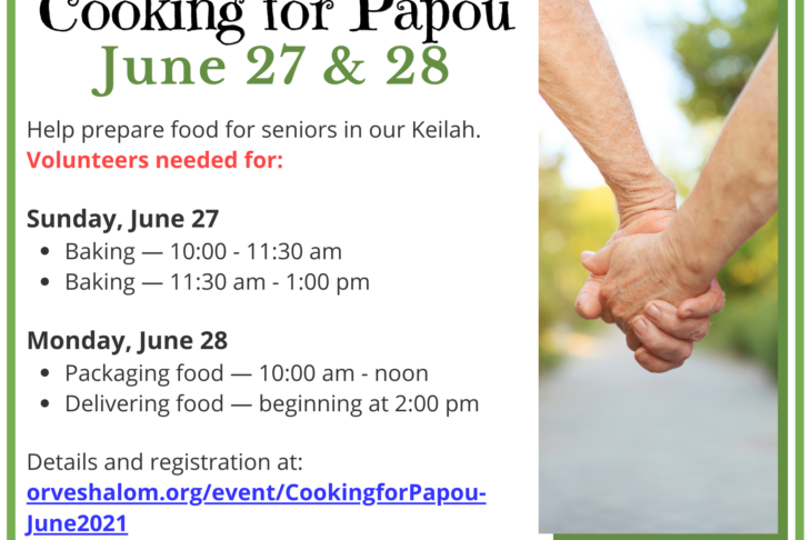 Cooking for Papou June 2021 Postcard