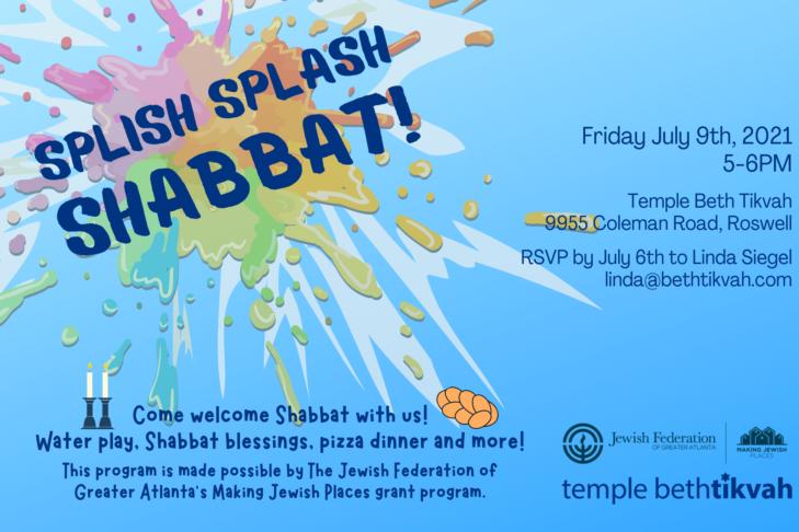 Splish Splash Shabbat 2021
