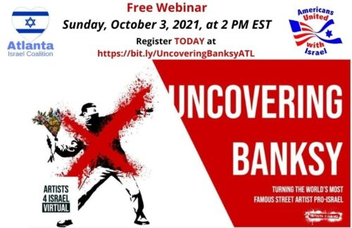 ZOOM Event -Uncovering BanksyUncovering Banksy Turning the World's Most Famous Street Artist Pro-Israel
