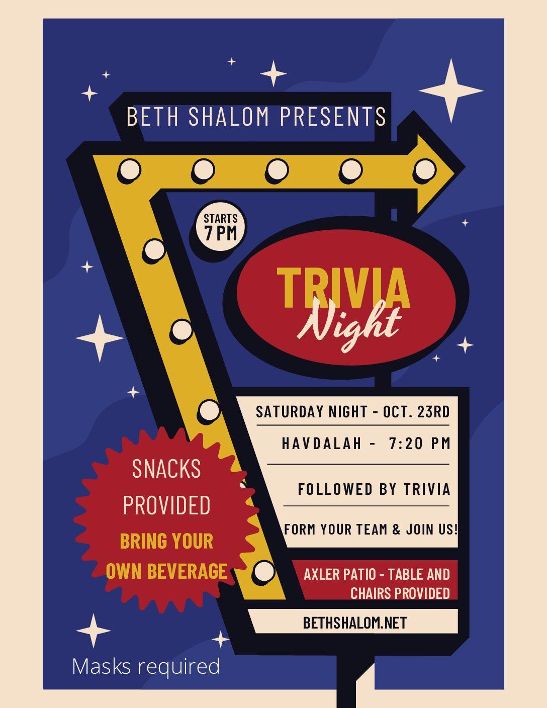 Trivia Night 10-23