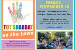 Tot Shabbat November 12, 2021 NEW with Menu