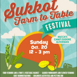 Sukkot Farm-to-Table Festival